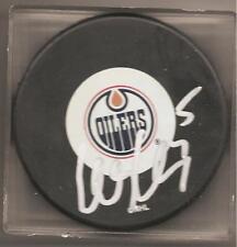 Ladislav Smid Signed Autographed Hockey Puck Edmonton Oilers a