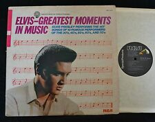 Elvis Presley Greatest Moments In Music RCA 0413