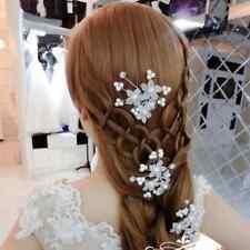 2017 Fashion Wedding Bridal Pearl Flower Crystal Hairpin Hair Clips Bridesmaid