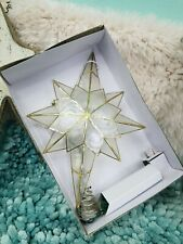 "Kurt Adler 10-Light Gold Illuminated Bethlehem Star Treetop-12""-New"