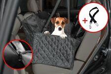Pet Dog Seat Hammock Cover Car Suv Van Back Rear Mat w/ Visual Window +Dog Belt