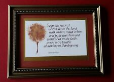 As you received Christ _Calligraphy, hand-ltr'd framed print-1176LE0000245S45S