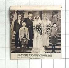 1938 Ms Jr Christie, Invergroin Farm, Loch Lomond Marries Mr Gd Young.