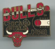 NBA Chicago Bulls Pin Stamped 1996 Imprinted Products Basketball Court Jordan