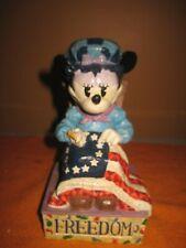"New 2005 Disney-JimShore-Enesco Minnie Mouse ""Stitching Freedom's Promise""Figure"