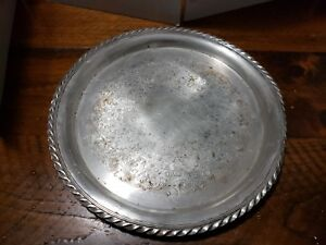 """Vintage WM ROGERS #471 - 12.25"""" Silver Plate Round Serving Tray"""