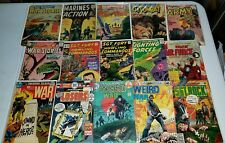 Lot-of-15-vintage-WAR-COMICS-Early-1950s-1960s-Atlas-DC-Sgt-Rock-Golden-Silver