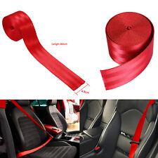 "Car Seat Belt Webbing Polyester Seat Lap Nylon Safety Strap Red 1.9"" x 141.7"""