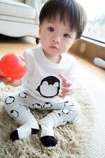 @Kid Baby Girls Boy Children Clothing Long Sleeve Shirt+Pants Outfit 1Set 100