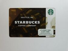 BRAND NEW 2017 Starbucks Coffee Company WA Seattle Gift Card