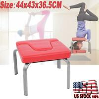 Yoga Headstand Chair Inversion Bench Headstander Home Gym Fitness Equipment Red