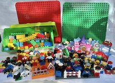 LEGO DUPLO JOB LOT figure animali i veicoli, mattoni, tavole Vintage