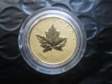 Piedfort 1/5 oz ( 6.25 g) Pure Gold Maple Leaf Coin      Rare~ only 3000 minted
