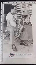 Photo ILLINOIS JACQUET et saxophone/Jazz /tirage original/presse/argentique