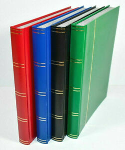 Large A4 Stock book Stamp Album with 32 White or Black Pages  -  From £9.95