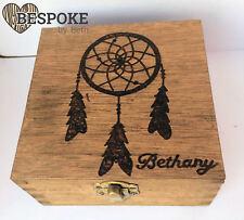 Personalised Wooden Jewellery Memory Box 16cm Dream Catcher Keepsake Christmas