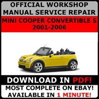 # OFFICIAL WORKSHOP Repair MANUAL for MINI COOPER CONVERTIBLE S 2001-2006 #
