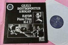 HAYDN Piano Trios Mstislav Rostropovitch Cello Leonid Kogan Gilels Ltd Saga LP