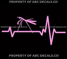 Vrs Heart Beat Line Animal Praying Mantis Insect Mantises Car Vinyl Decal