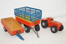 Steiff kleiner Holz Traktor mit zwei Anhänger