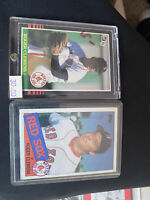 1985 Topps Roger Clemens Boston Red Sox #181 & Leaf #99  Rookie Lot
