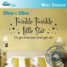 Wall Stickers Removable twinkle little star Living Room Bedroom Decal Mural