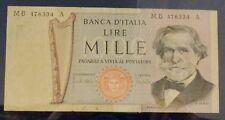 ITALIA 1000 1,000 LIRE VECCHIO banca nota 1971-N. MB476334A-In perfatta condizione scarpata