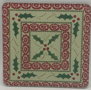 "Temp-tations by Tara Old World Christmas Holly Trivet 6 "" Square Hot Pad Plate"