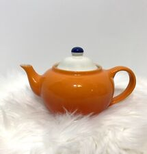 Le Creuset Small Teapot With Tea Infuser VOLCANIC ORANGE White Lid