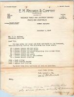 1923 FOREST BLACKBIRD & VANDYKE DELAWARE**DE*EM RECORDS CO*FRUIT PACKERS*MALONEY