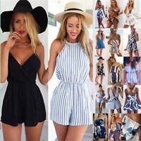 Women Casual Playsuit Jumpsuit Beach Summer Holiday Shorts Romper Mini Sundress