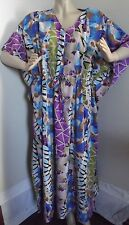 Womens Free Plus One Size RIVIERA SUN KAFTAN DRESS lounge muu caftan 1x 2x 3x
