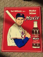 ~ Ted Williams ~ Make Mine Moxie - Red Sox Baseball - Retro Vintage Metal Sign