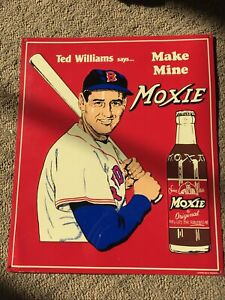 ~ Ted Williams ~ Make Mine Moxie - Red Sox Baseball - Retro Vintage Metal Sign