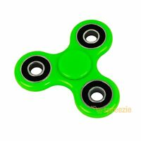 Green Hand Spinner Fidget Toy Anxiety Stress Relief Focus EDC Tri Spinner ADHD