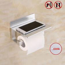 Toilettenpapierhalter Klopapierhalter ohne bohren mit Ablage Klorollenhalter WC