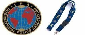 IPA ~INTERNATIONAL POLICE ASSOCIATION~ IPA Polizei Aufkleber + IPA SCHLÜSSELBAND