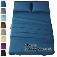 HIGHEST 2100 THREAD COUNT COTTON AND BAMBOO FEEL SOFT SHEETS SET DEEP AD