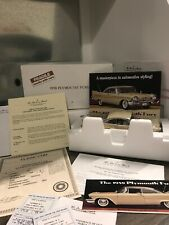 Danbury Mint 1958 Plymouth Fury 1:24 With Title MIB BUCKSKIN BEIGE