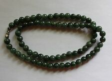 "100% Natural Untreated Grade <A> Oily Green JADE Bead Necklace 7-8mm 20"" #N049"