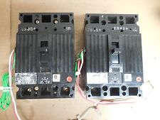 General Electric GE Breaker TBC36100 100A 100 A Amp 3P w. AUX Switch Lot of 2