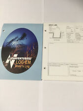 LOG EM DIVE LOG LOGBOOK REFILLS DL1 FOR PADI SCUBA DIVE BINDER PUNCHED 3 HOLES