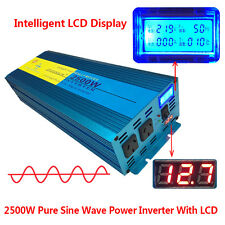 PURE SINE WAVE 2500W MAX 5000W 12V-240V POWER INVERTER CAR CARAVAN CAMPING BOAT