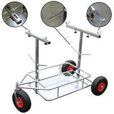 Go Kart 3 Wheel Chrome Trolley With Shelf Foam Wheels for Rotax Kosmic CRG