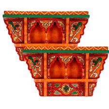 SET OF 2 - Rustic Floating Shelves Orange, Wall Shelves Floating