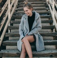 Brandy Melville gray heavy weight open front kennedy wool coat NWT + FREE GIFT