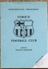 Stroud Forest Green v Bristol City Friendly Programme Aug 1989-90 only 1 on ebay