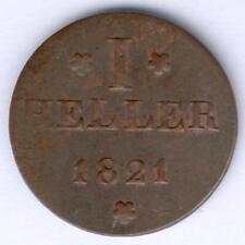 Frankfurt I Heller 1821 (Cu.) AKS 30, ss+