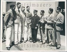 1932 Olympic Hockey Team of India w Lal C Mehra Arrive Los Angeles Press Photo