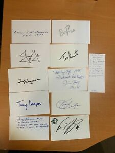 NHL Hockey Autographed HOF Star Index Card Lot **Not Authenticated**